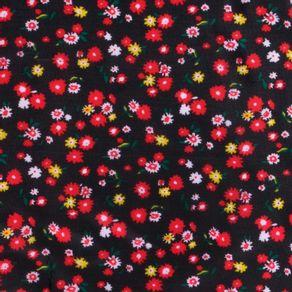 Tafeta-Estampada-Flores-Fondo-Negro