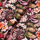 Lona-Estampada-Flores-Naranjas-Fondo-Negro