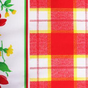 Poplin-Estampado-Cuadros-y-Flores-Rojo