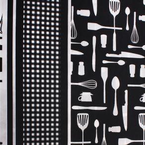 Poplin-Estampado-Cocina-Negro