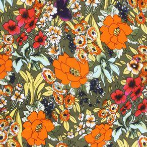 Modelo-Gasa-Miranda-Estampado-Flores-Naranja