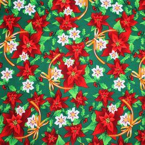 Modelo-Tropical-Estampado-Flor-Estrella-Roja